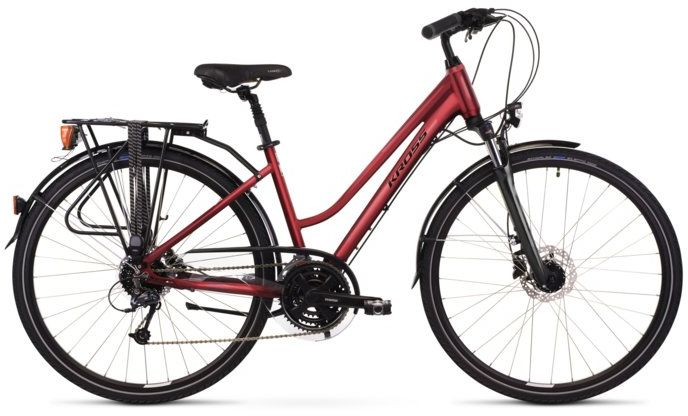 """Rower Kross TRANS 5.0 D rubinowy 28"""" 2021"""