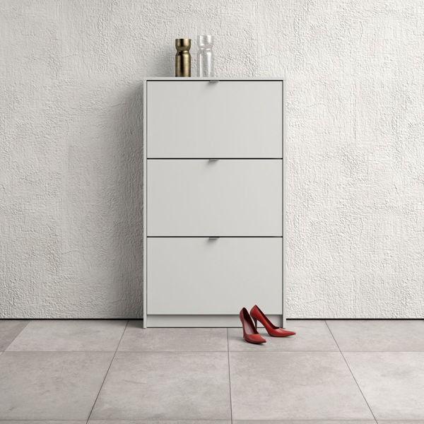 Szafka na buty roma 3d, biała