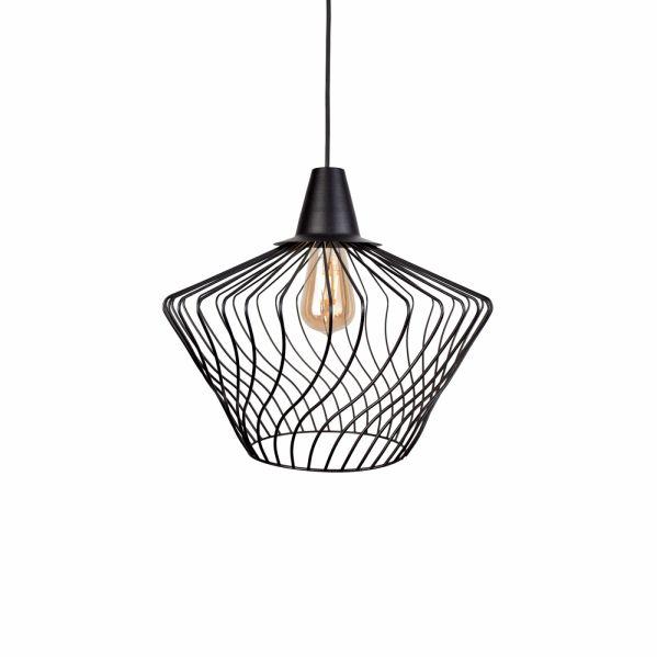 Lampa wisząca druciana loftowa Wave S czarna klatka 8858 - Nowodvorski Do -17% rabatu w koszyku i darmowa dostawa od 299zł !