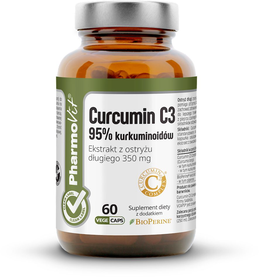 Kurkumina 60 kapsułek 27,3 g - pharmovit (clean label)