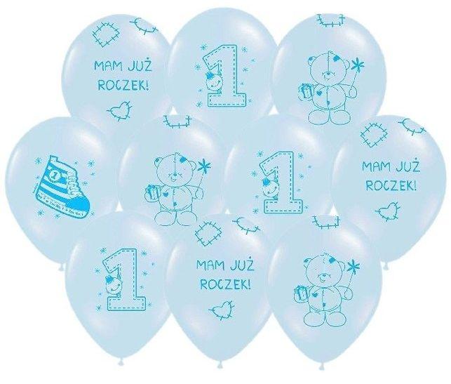 Zestaw balonów na Roczek chłopca 20 sztuk ZB17