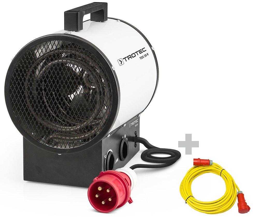 Nagrzewnica elektryczna TDS 30 R + przedłużacz profesjonalny 20 m / 400 V / 2,5 mm
