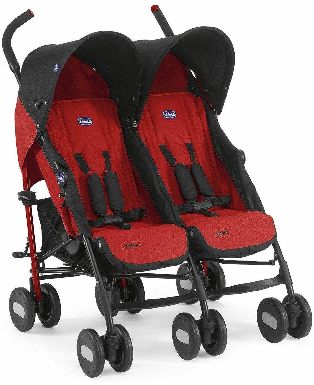 Chicco Echo Twin wózek bliźniaczy Garnet czerwony