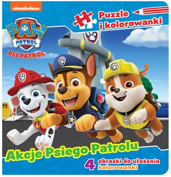 Psi Patrol Puzzle i kolorowanki 3 Akcje Psiego Patrolu