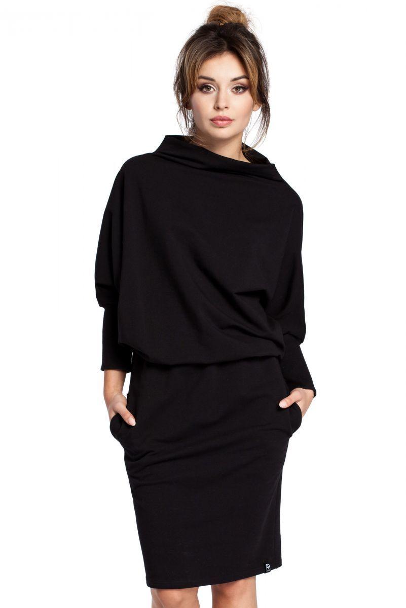 B032 sukienka czarna