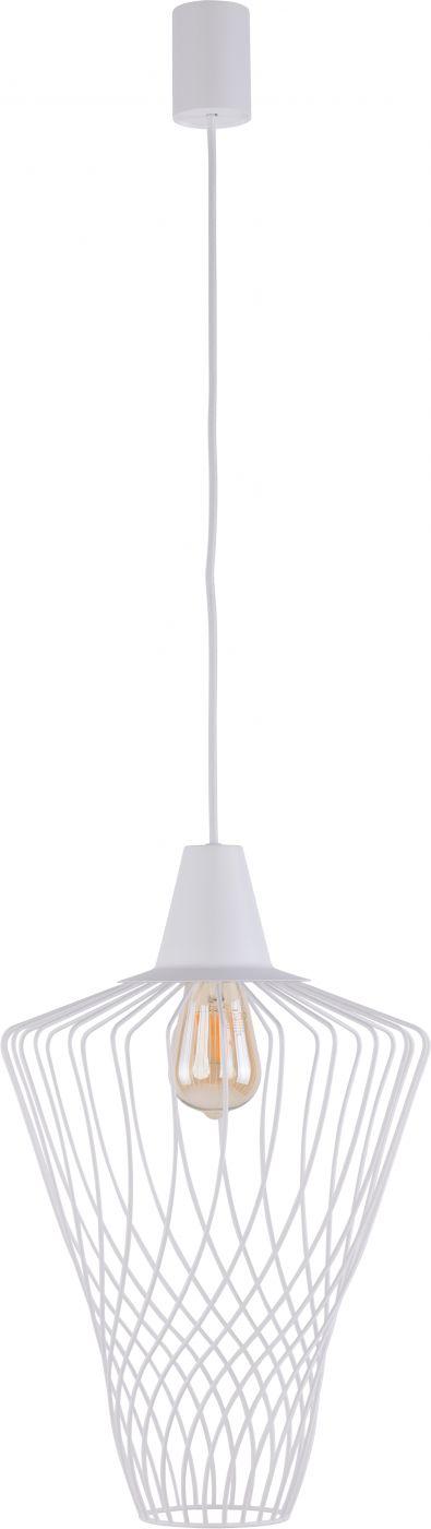 Lampa wisząca druciana biała Wave L zwis klatka 8855 - Nowodvorski Do -17% rabatu w koszyku i darmowa dostawa od 299zł !