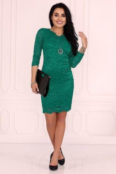 Merribel 10391d green sukienka damska