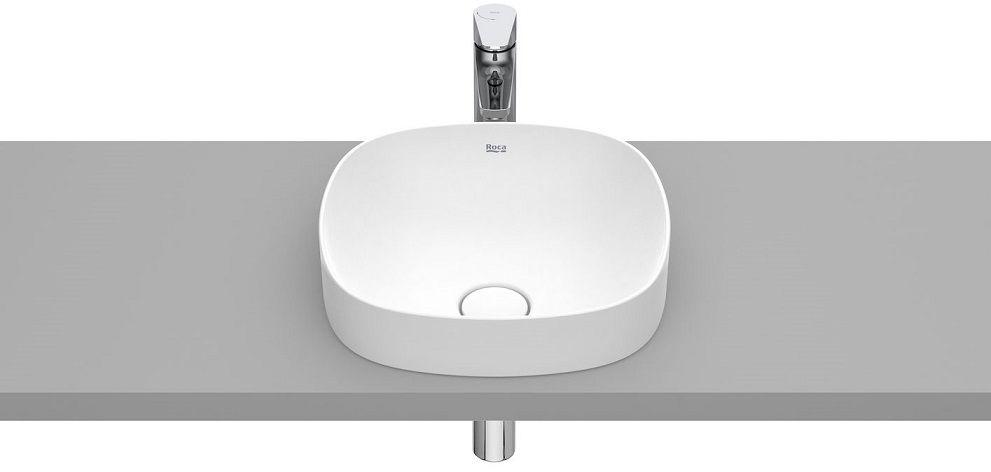 Roca Inspira Soft umywalka blatowa 37cm biała matowa A32750R620
