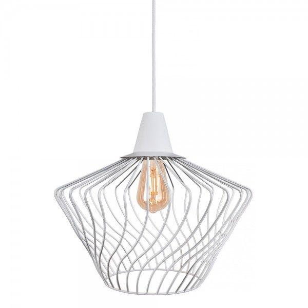 Lampa wisząca druciana Wave S biała klatka zwis 8860 - Nowodvorski Do -17% rabatu w koszyku i darmowa dostawa od 299zł !