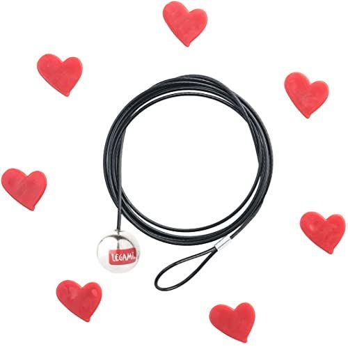 Wiązania Click ramka na zdjęcia HEARTS, czerwony/czarny, 120 x 0,1 x 0,1 cm