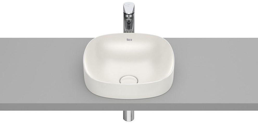 Roca Inspira Soft umywalka blatowa 37cm beżowa A32750R650