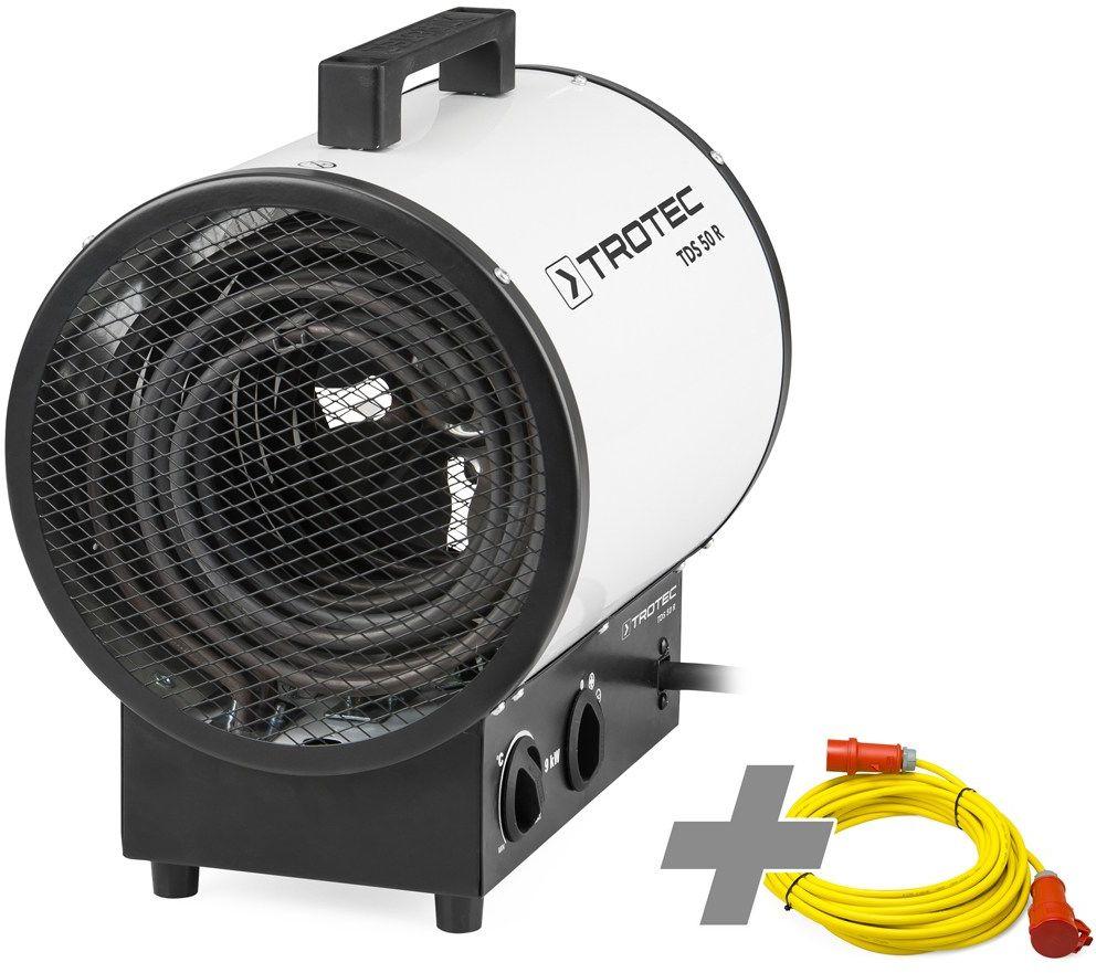 Nagrzewnica elektryczna TDS 50 R + przedłużacz profesjonalny 20 m / 400 V / 2,5 mm