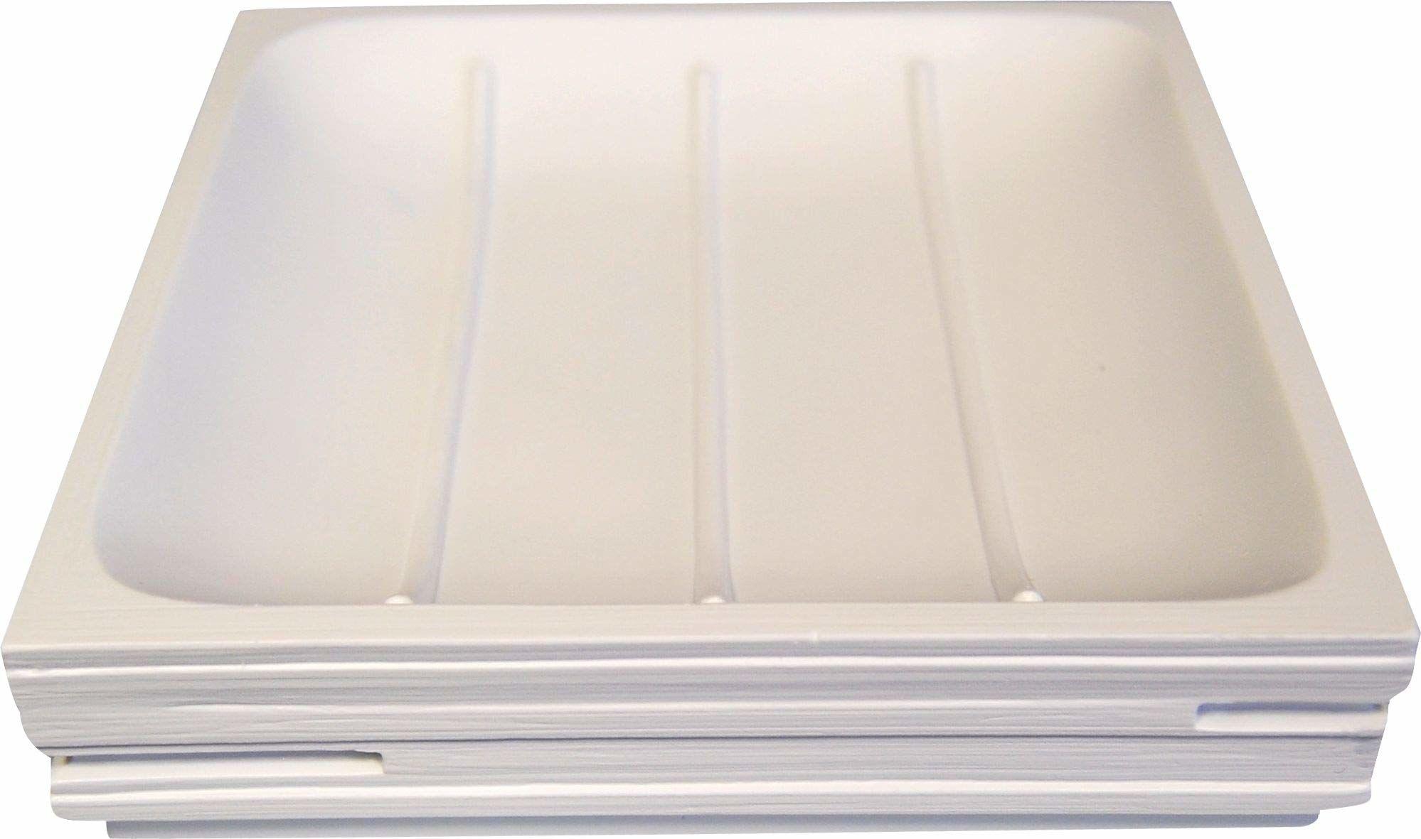 Grund BRICK mydelniczka 11,6 x 11,6 x 2,6 cm białe akcesoria, 100% żywica poliestrowa, 6 x 11,6 x 2,6 cm