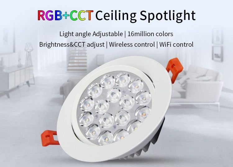 Milight - 9w rgb+cct led ceiling spotlight - fut062