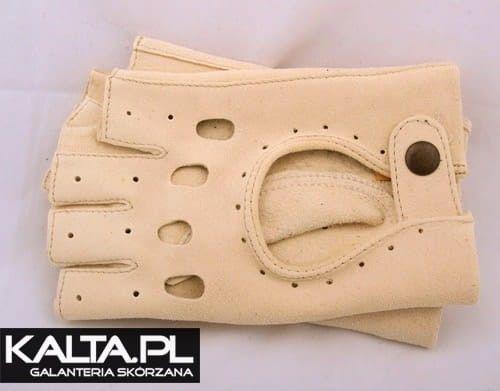 Irchowe rękawiczki bez palców, samochodowe, rowerowe - Kuc