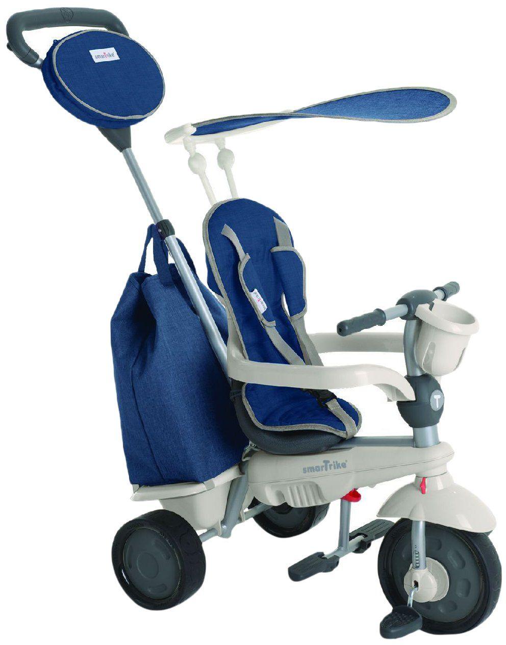 smarTrike 195-0700 - Voyage 4 w 1 rower trójkołowy dla dzieci od 10 miesięcy, niebieski
