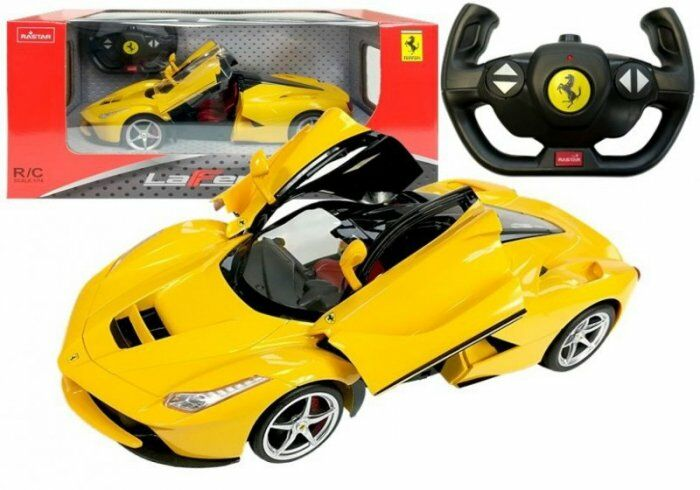 Auto R/C Ferrari Rastar 1:14 Żółte na pilota