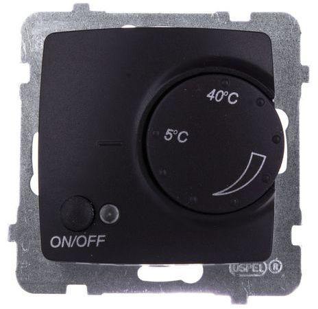 KARO Regulator temperatury /czujnik napowietrzny/ czekoladowy metalik RTP-1SN/m/40