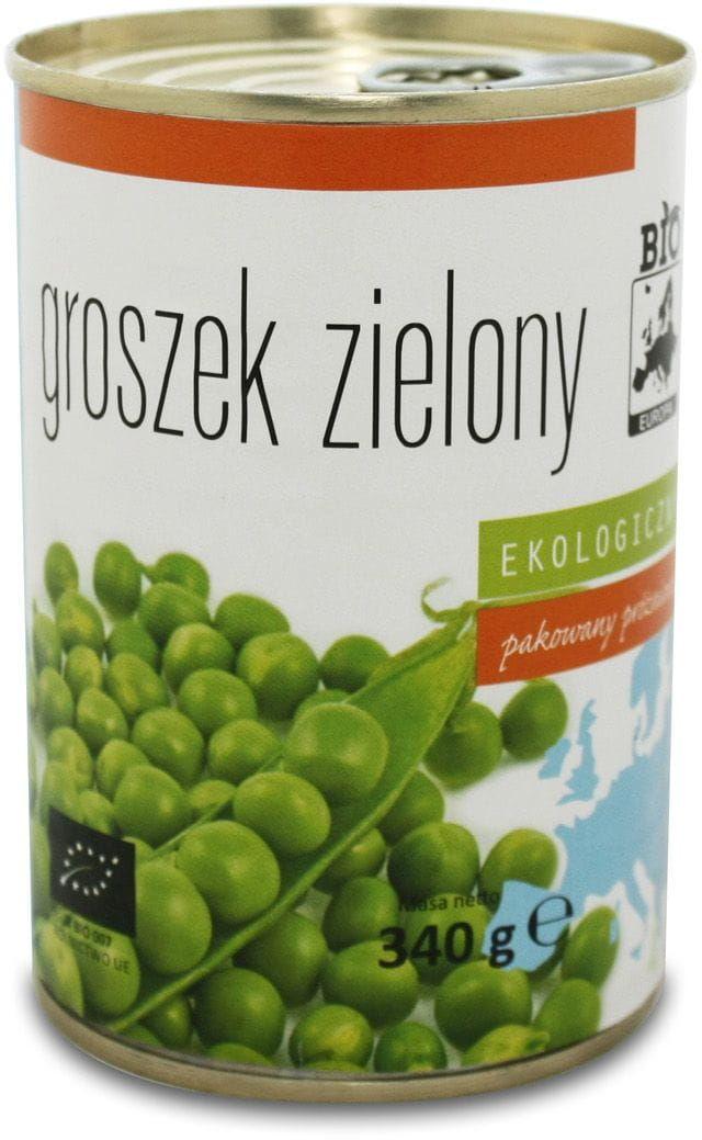 Groszek zielony konserwowy bio 340 g 270 g - bio europa