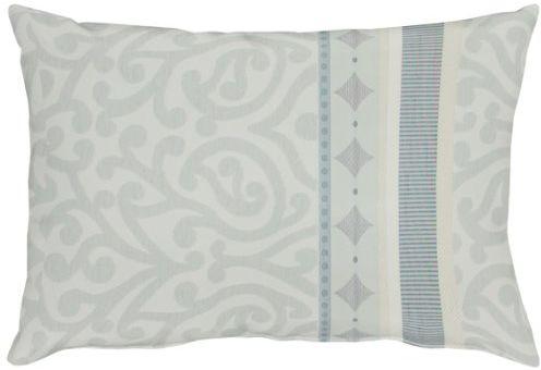 """APELT Prato_35x50_28 poduszka """"tkanina żakardowa z ornamentami"""", biały/szary"""