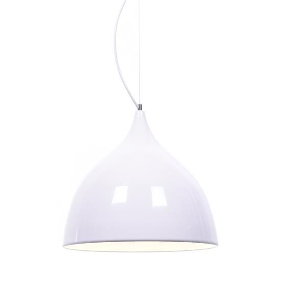 Lumina Deco Vittorio biały połysk nowoczesna lampa wisząca