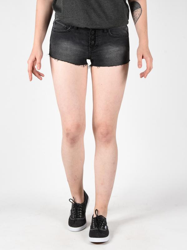 Element PALO BLACK WASH damskie spodenki jeansowe - 27