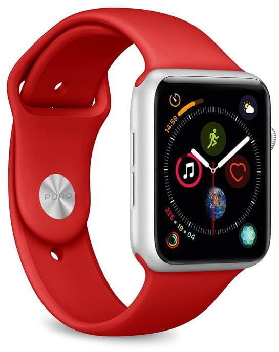 Elastyczny pasek sportowy PURO ICON Apple Watch 4/5/6/SE 40/38mm (S/M & M/L) (czerwony)