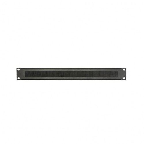 Adam Hall Parts 87221 BRUSH - Panel z otworami do szafy rack, 1U, stal, z listwą szczotkową