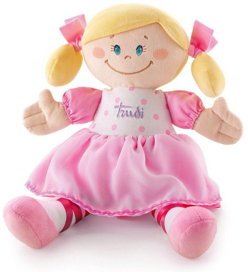 Pluszowa lalka w sukience, Ballerina, przytulanka, 64075-Trudi, lalki dla dziewczynek