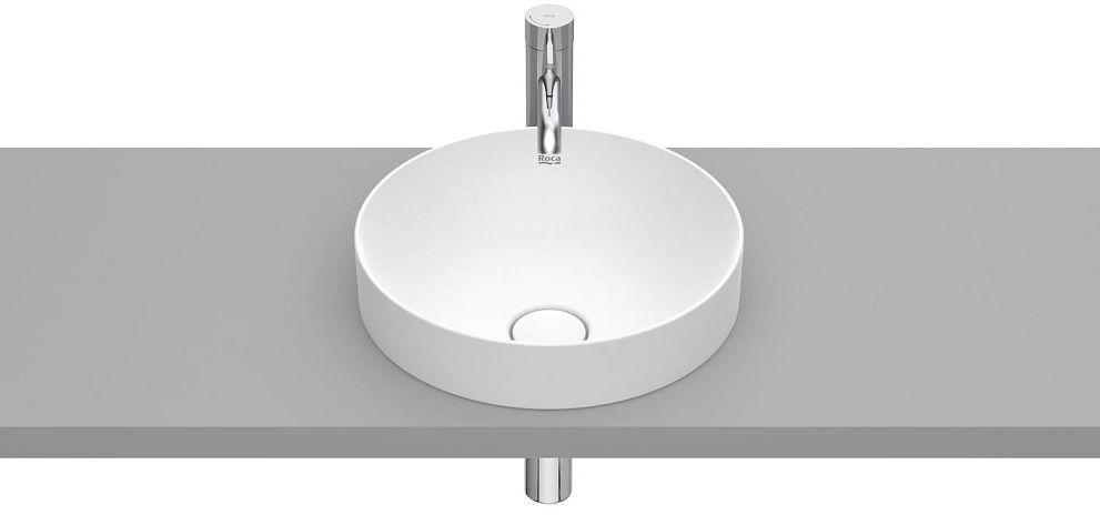Roca Inspira Round umywalka blatowa 37cm biały matowy A32752R620