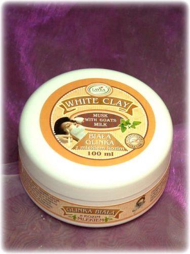 Biała glinka z mlekiem kozim 100 ml