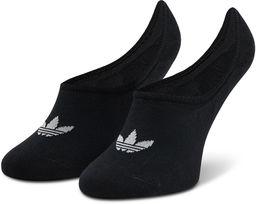 Zestaw 3 par stopek unisex adidas - No-Show Socks 3P FM0677 Black