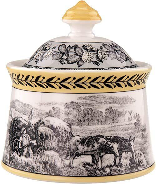 Villeroy & Boch Audun Ferme puszka na cukier, porcelana, biała/wielokolorowa