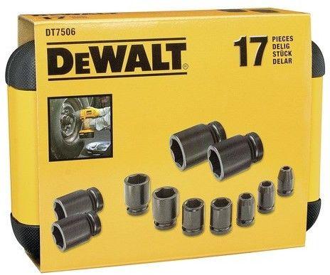 """zestaw 17szt. nasadek udarowych 6-kątnych 1/2"""", 6-27mm DeWALT [DT7506]"""
