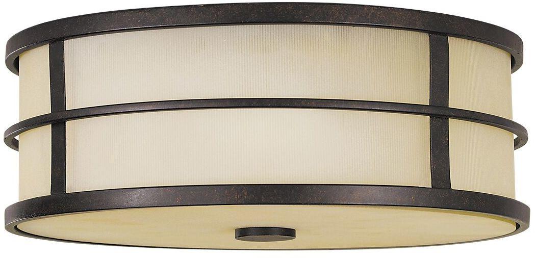 Plafon Fusion FE/FUSION/F Feiss klasyczna oprawa sufitowa w kolorze brązowym