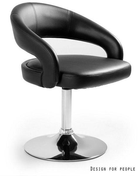 Krzesło barowe Stilo czarne Unique