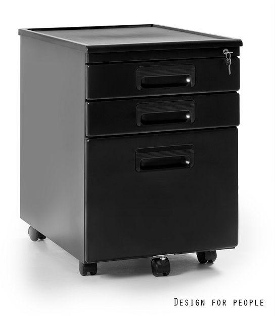 Kontener biurowy 324 czarny Unique