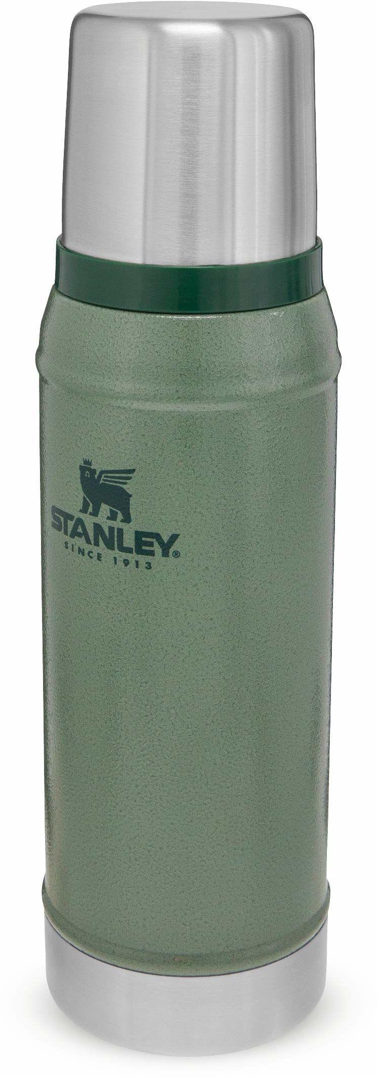 Stanley Classic Legendary Bottle 0.75L / 25OZ Hammertone Green  Termos ze Stali Nierdzewnej BEZ BPA - Utrzymuje zimno lub ciepło przez 20 godzin - Do Mycia w Zmywarce