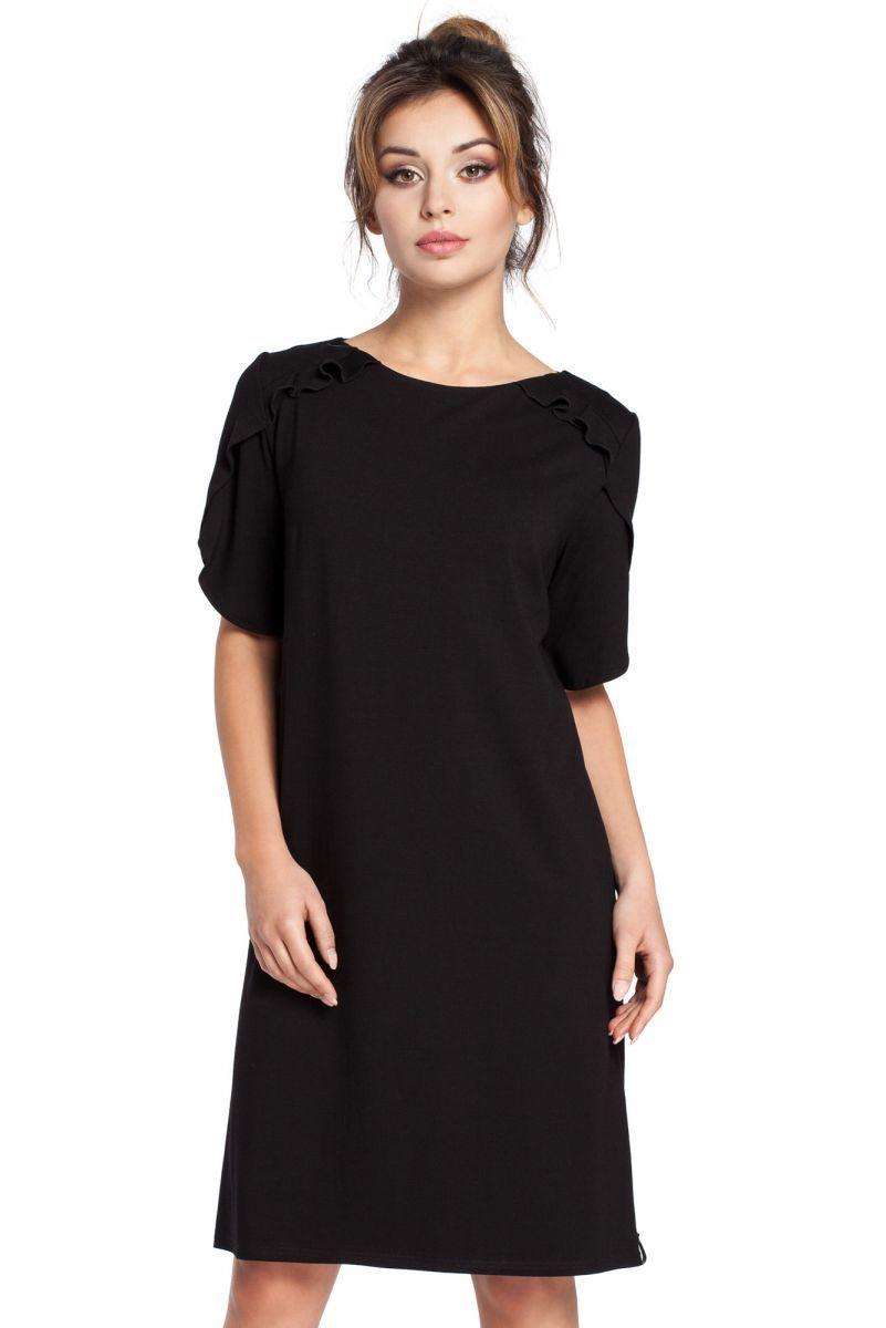 B035 sukienka czarna