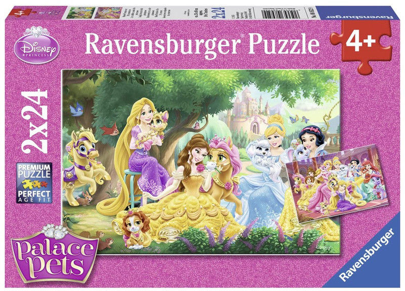 Ravensburger - Puzzle Disney Przyjaciele księżniczek 2 x 24 elem. 089529