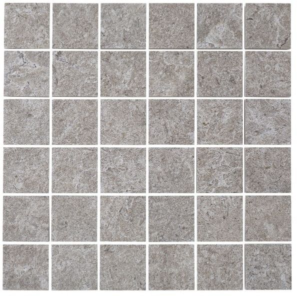 Mozaika Soft lime stone Colours 30 x 30 cm szary