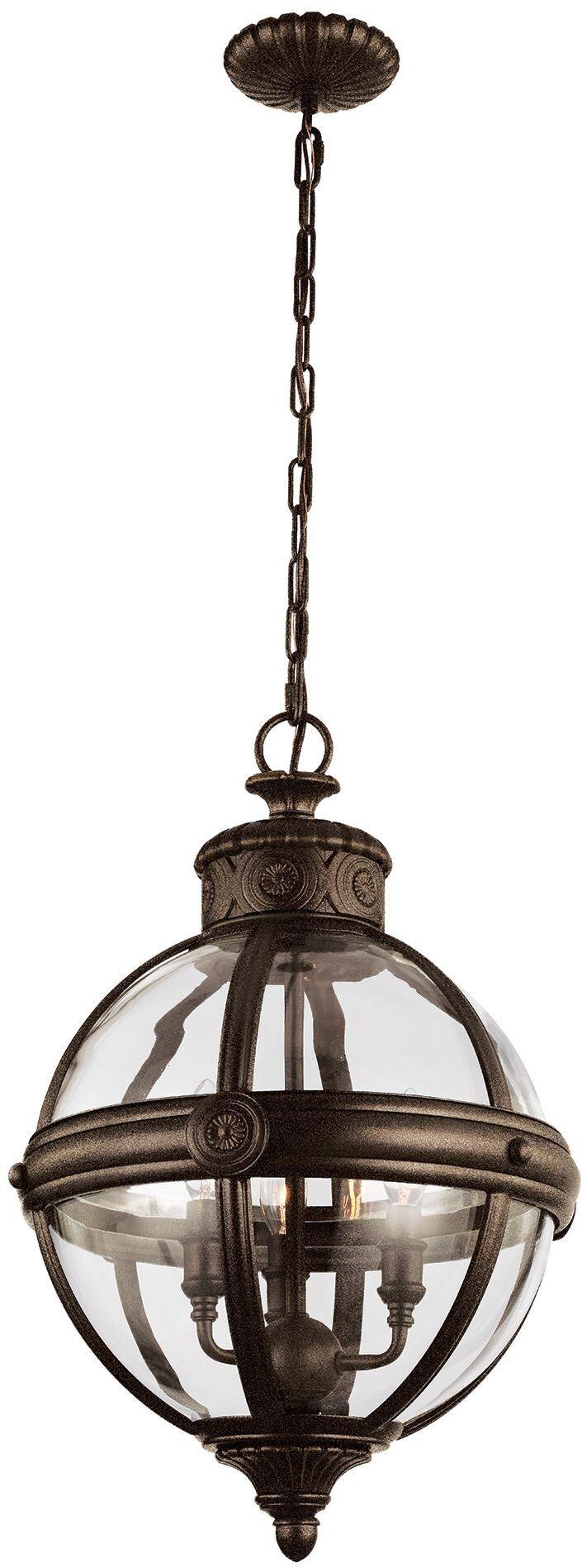 Lampa wisząca Adams FE/ADAMS/3P BRZ Feiss klasyczna oprawa w kolorze brązu