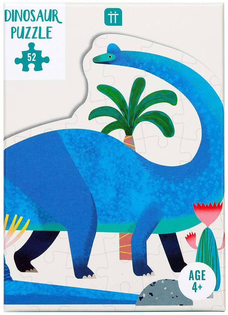 52-częściowy niebieski dinozaur w kształcie brachiozaura puzzle i plakat, dla dzieci dzieci, dinozaury jurajskie, do domu, prezent urodzinowy, prezent świąteczny