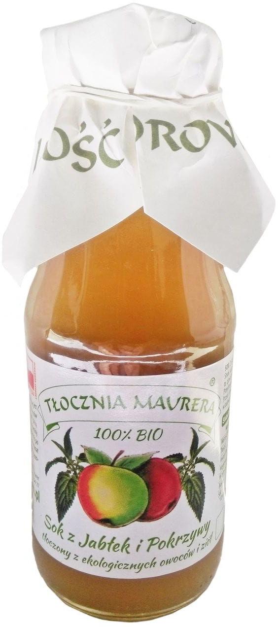 Sok jabłkowy z pokrzywą bio 300 ml - tłocznia maurera