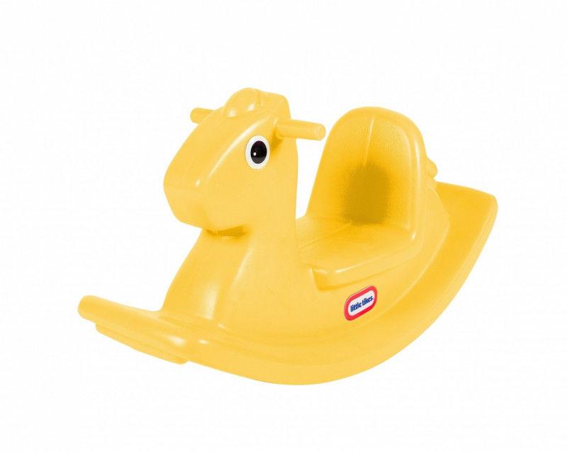 Koń na biegunach Żółty