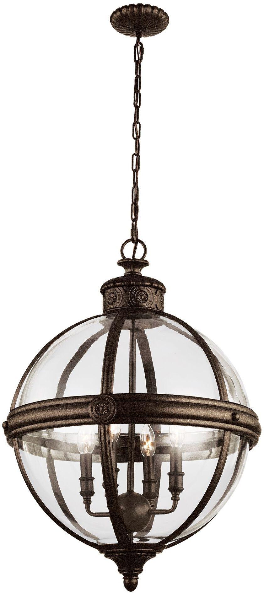 Lampa wisząca Adams FE/ADAMS/4P BRZ Feiss klasyczna oprawa w kolorze brązu