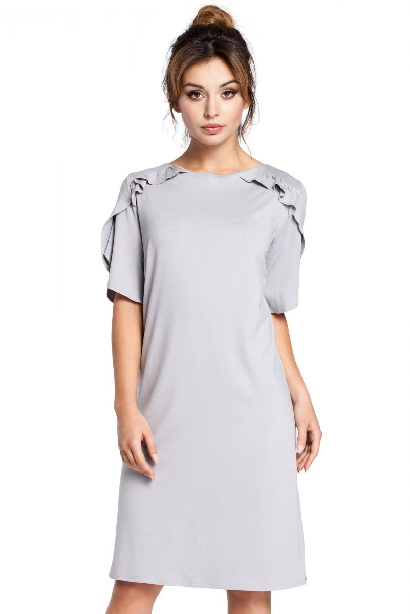 B035 sukienka szara