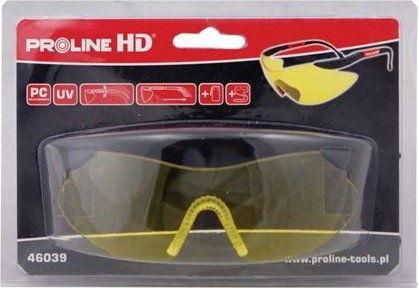 LAHTI PRO Okulary Ochronne Żółte 46039