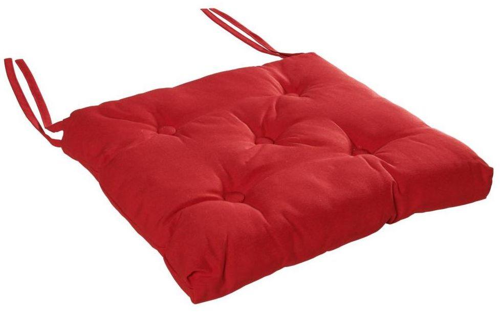 Poduszka na krzesło Luck czerwona 40 x 40 x 6 cm Inspire