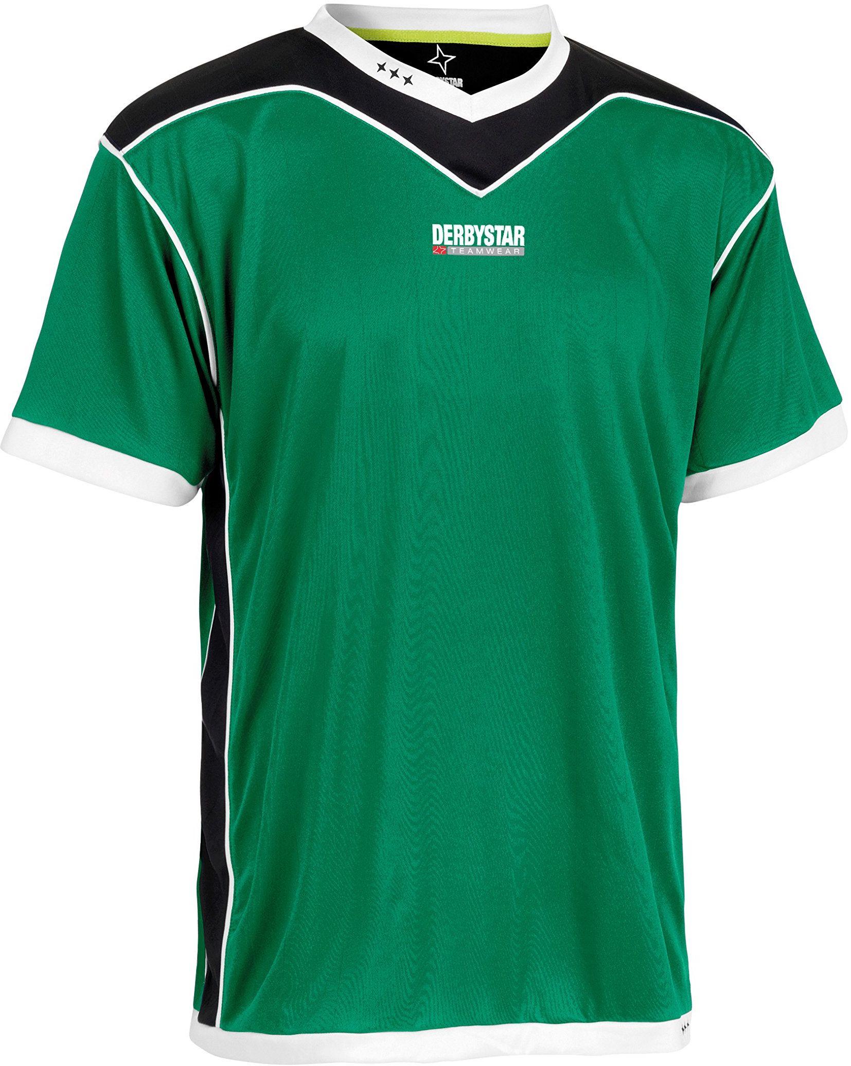 Derbystar Koszulka Brillant krótka, XXL, zielona czarna, 6000070420